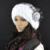Women ' s chapéus Rex Rabbit Fur Hat Real Fur um boné chapéus de inverno gorros Cap costura à mão Skullies Elastic Lady Headwear W # 29