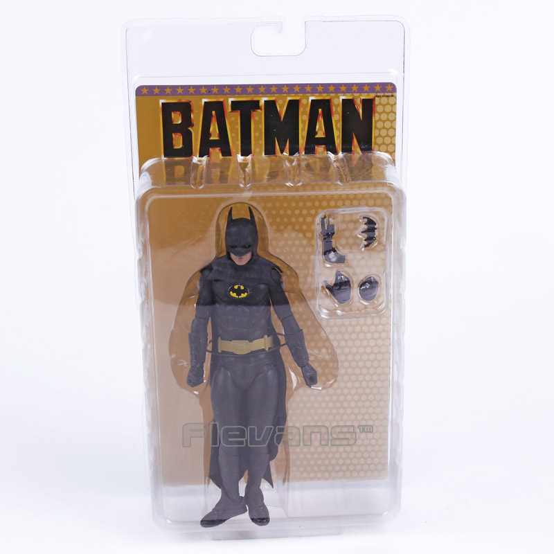 NECA 1989 Batman Michael Keaton 25th Anniversary PVC Action Figure Collectible Model Toy neca a nightmare on elm street freddy krueger 30th pvc action figure collectible toy 7 18cm