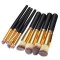 8 Unids/set Alta Pincel de Maquillaje Profesional Cosméticos Cepillos Higiene Mujeres Prácticos Cepillos de Polvo Cosmético Suave