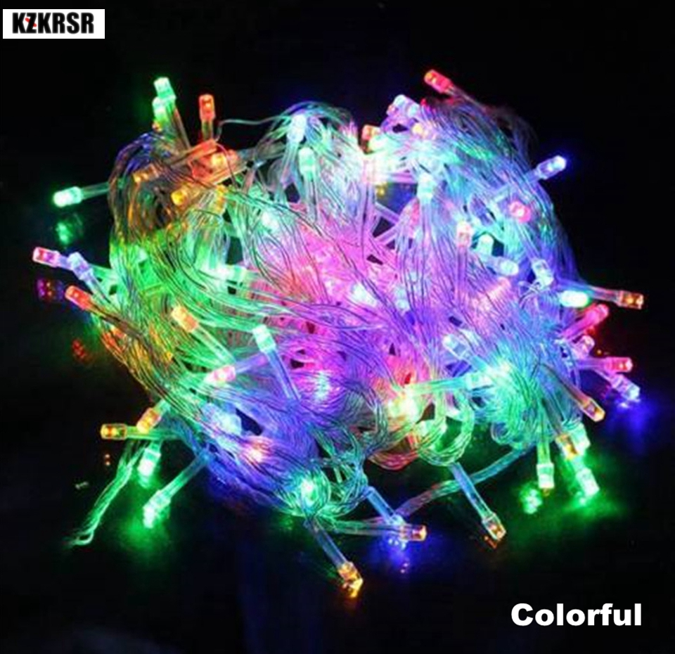 KZKRSR 10M 20M 50M AC220V 110V Led Holiday String Lights Decor for Xmas Garland Wedding Christmas Outdoor Waterproof Fairy Light ac220v 50m 400leds eu plug fairy string light 8 modes outdoor chirstmas string garland for xmas wedding christmas party holiday