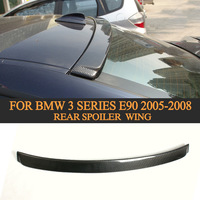 Carbon Fiber Car Rear Roof Spoiler Lip Wing For BMW 3 Series E90 2005 2008 Car Styling