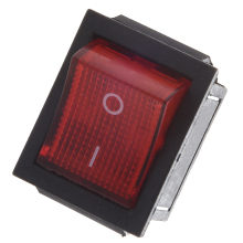 Red Light Illuminated 4 Pin DPST ON/OFF Snap in Rocker Switch 16A 20A 250V AC