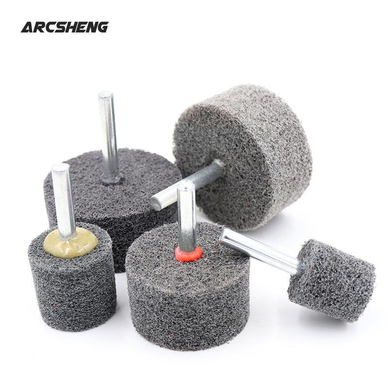 1Pc 6mm Shank Fiber Nylon Special Mounted Point Grinding Head For Mould Finish Polish Grinder Rotary Tools