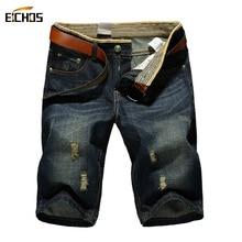 2017 Summer Short Men Jeans Brand Men's Short Pants Fashion Jeans With Holes Men Large Size Half Casual Bermudas Hombre