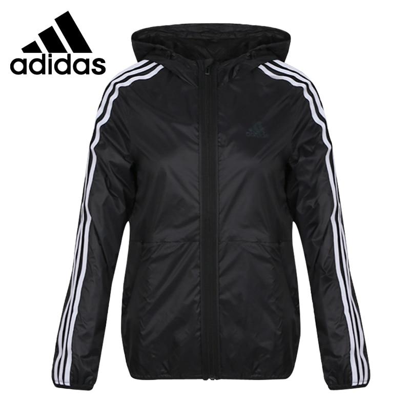 Original New Arrival  Adidas FEM WB 3S Womens Woven Jacket Hooded SportswearOriginal New Arrival  Adidas FEM WB 3S Womens Woven Jacket Hooded Sportswear