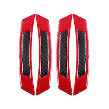 Red Bumper Reflective Sticker Strip Reflector Decal PC Plastic Accessories Kit Parts Frames(China)