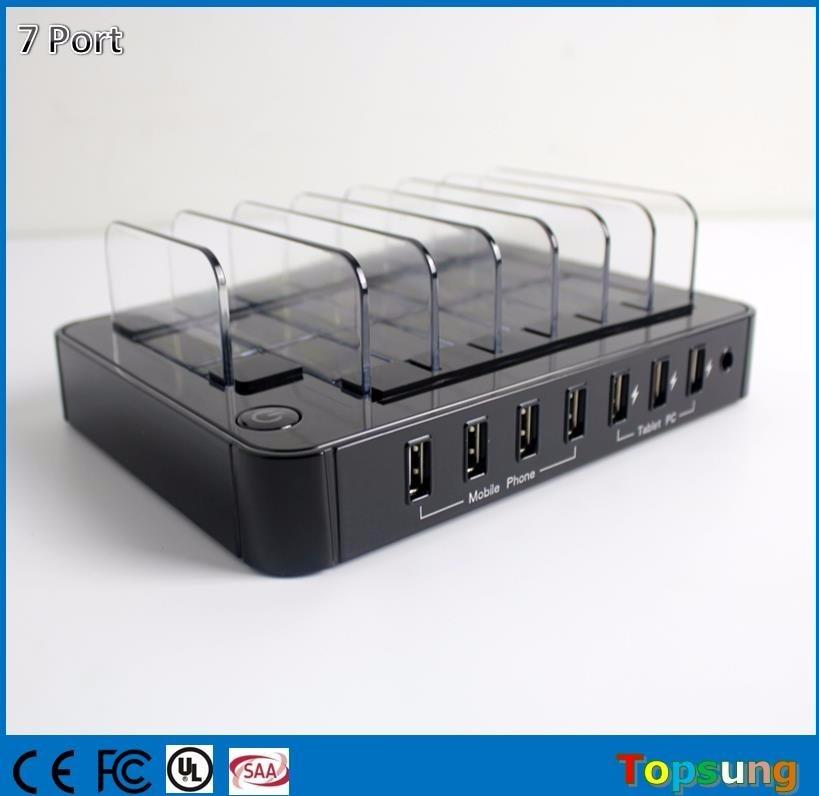 Многофункционална USB зарядна станция - Резервни части и аксесоари за мобилни телефони - Снимка 3