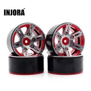 Image 2 - 4PCS Metal Wheel Rim 1.9 Inch BEADLOCK for 1/10 RC Rock Crawler Axial SCX10 90046 AXI03007 TAMIYA CC01 D90 TF2 Traxxas TRX 4
