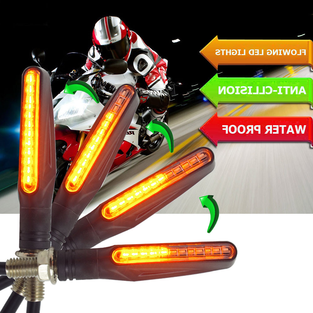 Flowing Flicker Led Motorcycle Turn Signal Lights Blinkers Clignotant Moto FOR Vstrom Dl650 Honda Vfr 800 Bmw F 800 Gs Dl 650