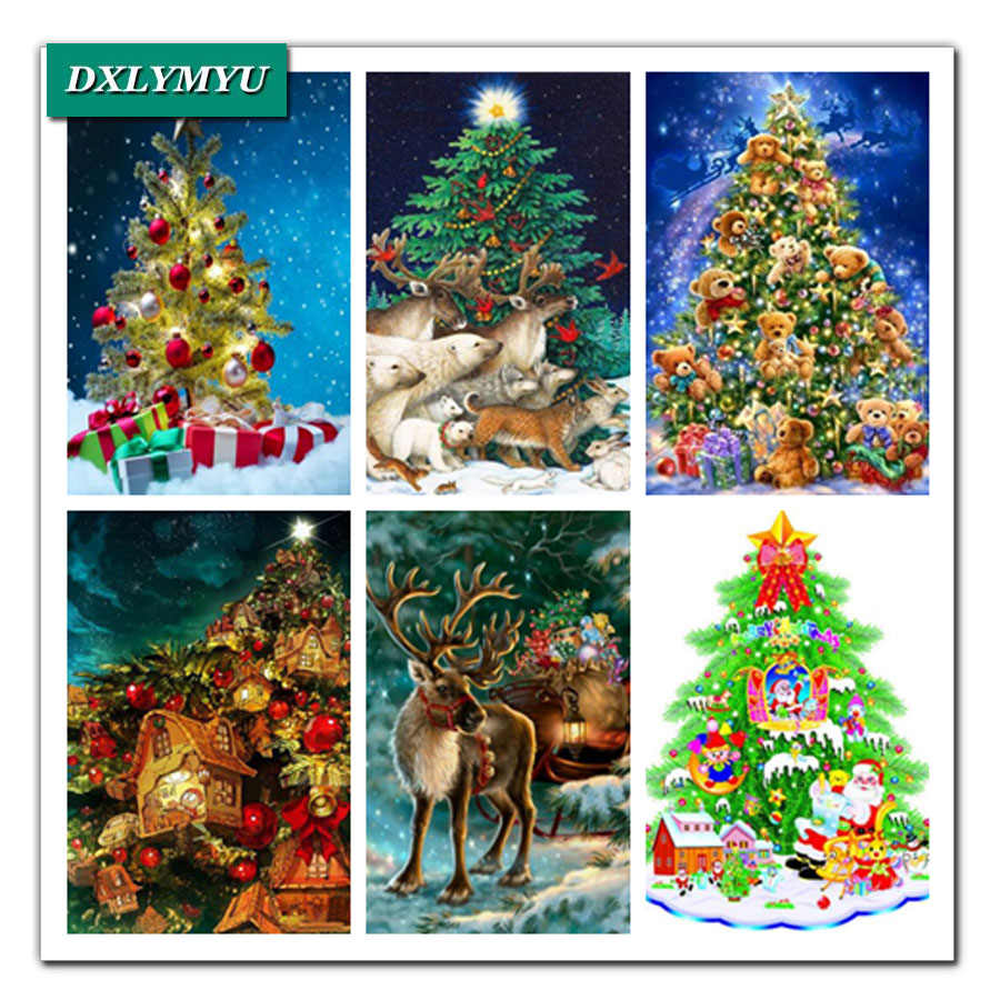 5d diamond painting Christmas tree gi full square Diamond Mosaic Picture cross stitch pattern embroidery HandMade childs gift
