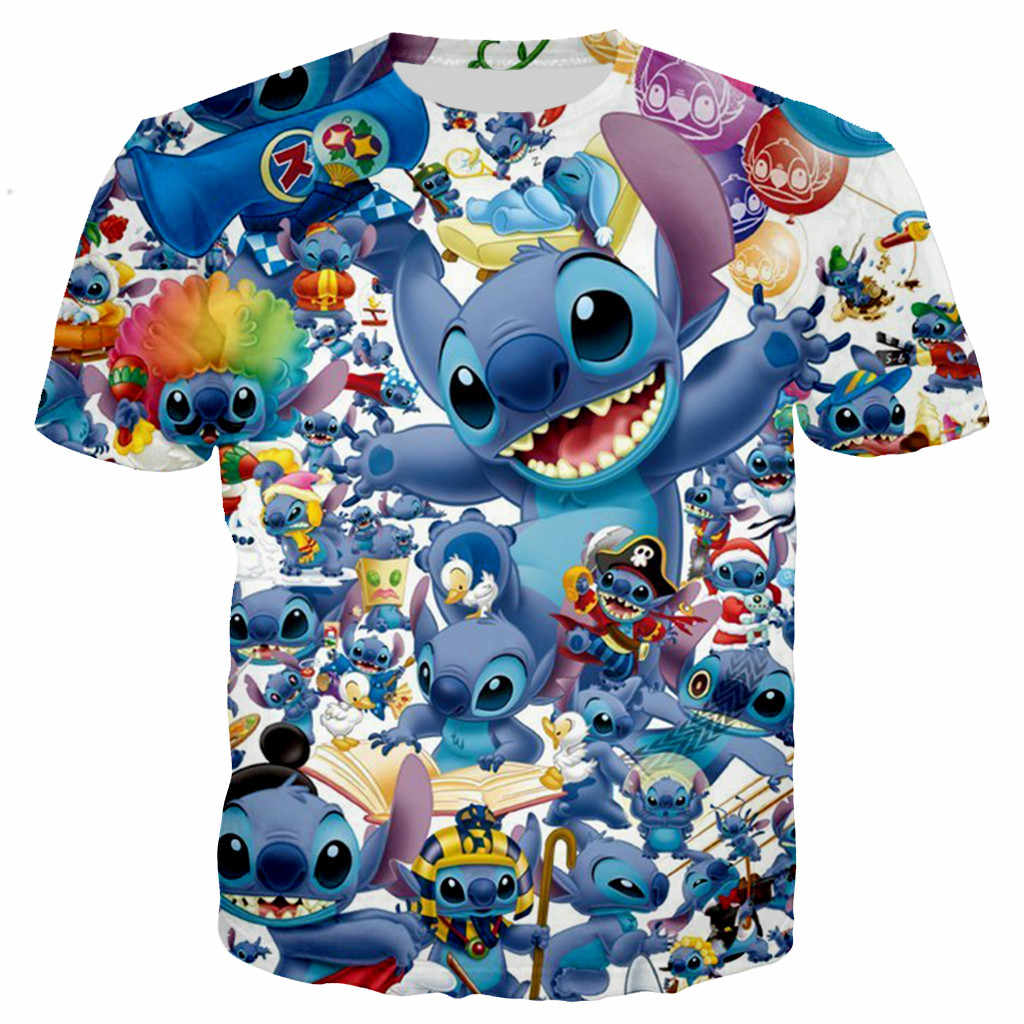 Nieuwe aankomen cartoon Lilo Stitch collage 3D print mannen vrouwen mode koele t-shirt/hoodies/sweatshirts/vest /tops dropshipping
