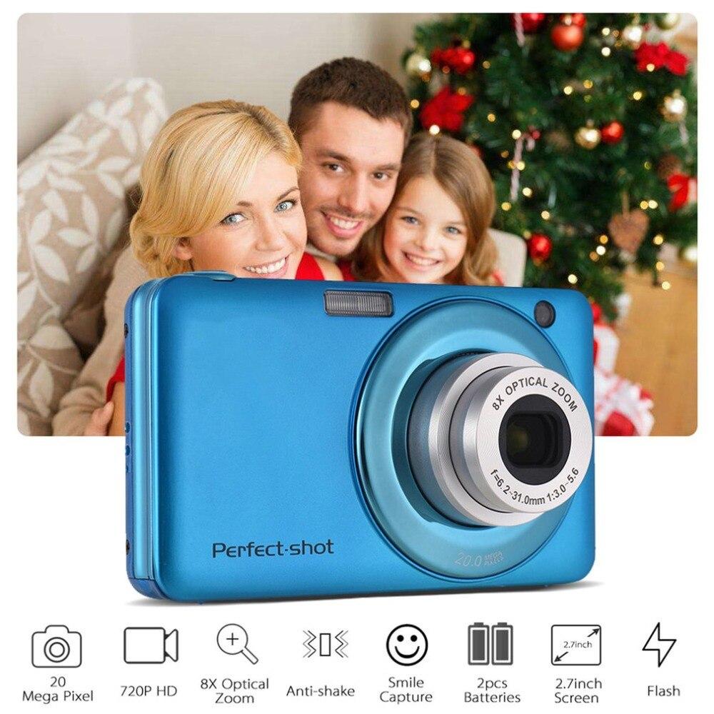 24MP Portable Coloré Compact HD 8x Mise Au Point Zoom Photo Enregistrement Vidéo Numérique Caméra avec JPEG Avi SD carte Anti- secouez Enfants Cadeaux