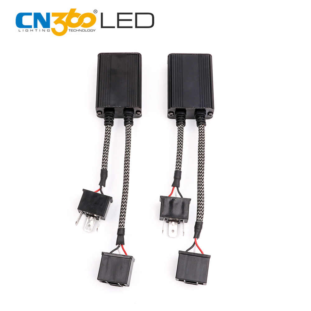 CN360 2PCS LED Decoder Error Free CANBUS Part For LED Light Flicker FM Interference Warning Message From Dash Board C6