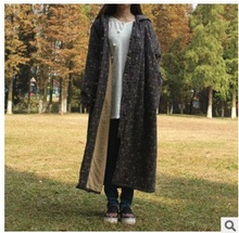 Новая версия продукта зимой 2015 года, оригинальный дизайн случайные женские утолщение хлопка-мягкие одежды свободные большой ярдов