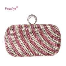 Fawziya glasperlen geldbörse knuckle ring diamant verzierte damen party kupplung handtaschen