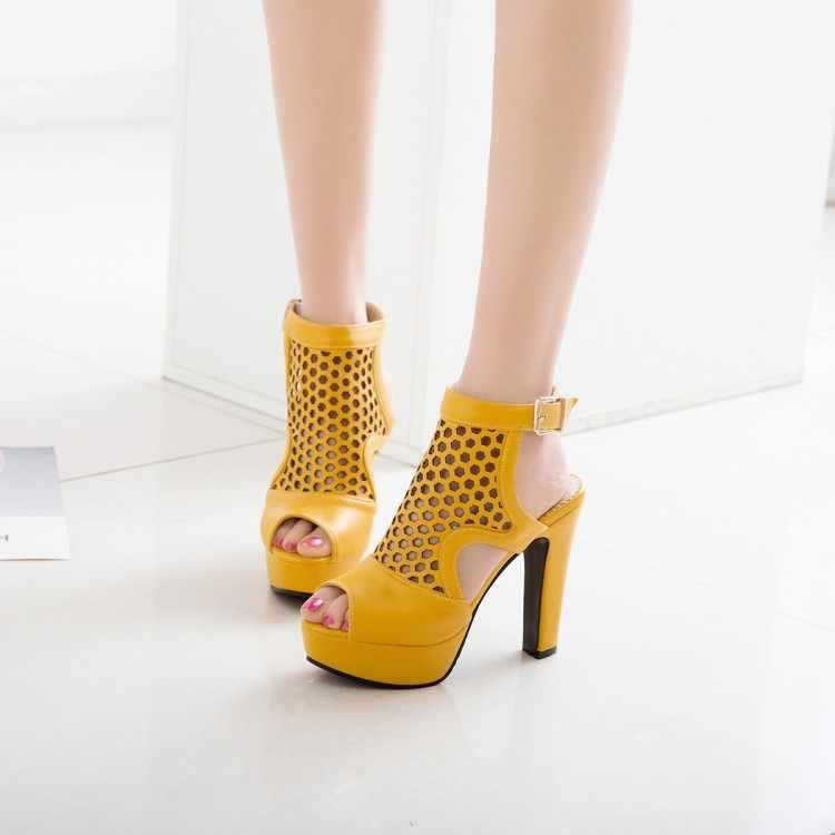Große Größe 18 19 High heels sandalen frauen schuhe frau sommer damen Raue absätzen sandalen