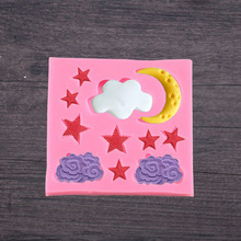 1PC New Cloud Star Moon Silicone Mold Fondant Cake Decorating Tools Chocolate Gumpaste Mould LB 500