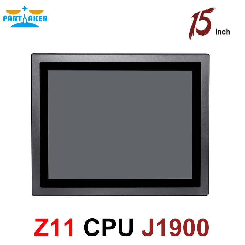 15 Inch LED IP65 Industrial Touch Panel PC All In One Computer With 10 Points Capacitive Intel Celeron J1900 Partaker Z11