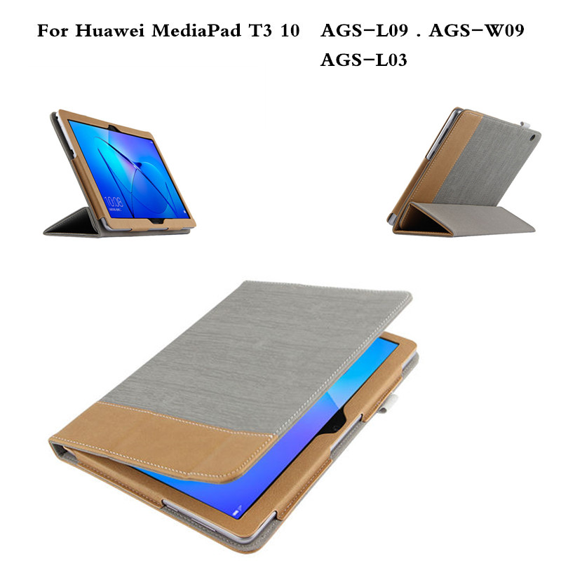 T3 10.0 With Magnet patchwork PU Leather case Flip Cover For Huawei MediaPad T3 10 9.6 inch AGS-L09 AGS-L03 AGS-W09  tablet mediapad m3 lite 8 0 skin ultra slim cartoon stand pu leather case cover for huawei mediapad m3 lite 8 0 cpn w09 cpn al00 8