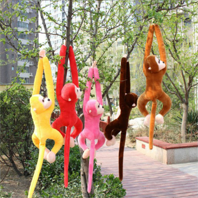 60cm Long Arm Monkey from Arm to Tail Plush Toys Colorful Monkey Curtains Monkey Stuffed Animal Doll For Kids Children