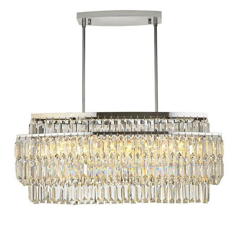 Led Italian luxury crystal Pendant Lights model room after the modern simple Nordic bedroom restaurant crystal