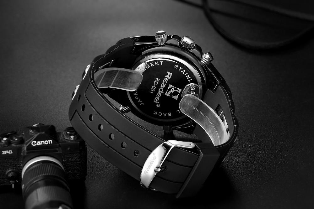 Readeel Top Brand Sport Quartz Wrist Watch Men Military Waterproof Watches LED Digital Watches Men Quartz Wristwatch Clock Male 13