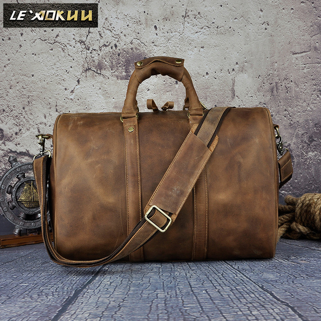 Men Genuine Leather Designer Casual Duffle Travel Luggage Bag Fashion Suitcase Messenger Shoulder Crossbody Tote Bag 3037