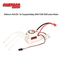 SURPASSHOBBY Platinum Waterproof series Brushless 45A ESC for 1/10 RC Car Boat 2845 3650 F540 Brushless Motor