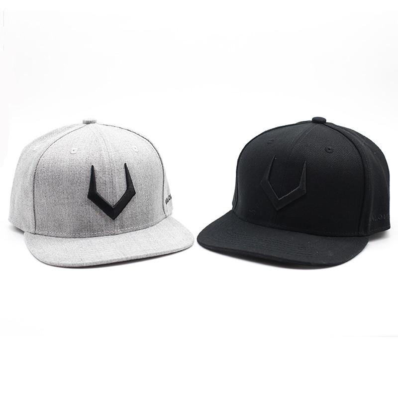 High quality grey wool snapback 3D pierced embroidery hip hop cap flat bill baseball cap for men and women pierced