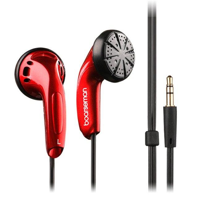 100% Original Boarseman K25 Hifi In Ear Earphone 3.5MM High Qaulity Flat Head Earbuds In Ear Headset Dynamic Earbuds