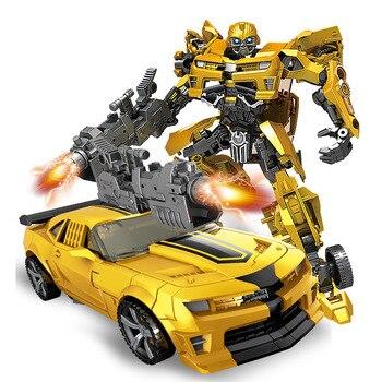 19 cm transformación coche Robot figura de acción Juguetes de plástico autos Robot modelo niños Robot deformación Juguetes niños regalos de Juguetes