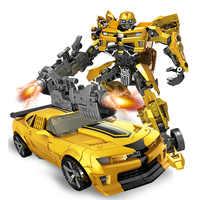 Figura de acción del coche del Robot de la transformación de 19cm Juguetes coches de Robot de plástico modelo niños Deformación de Robots Juguetes para regalos Juguetes