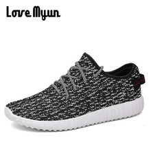 mens Mesh shoes  Fly weaving Men Casual Shoes 2018 New Design light weight Breathable Shoes Sneakers EE-43