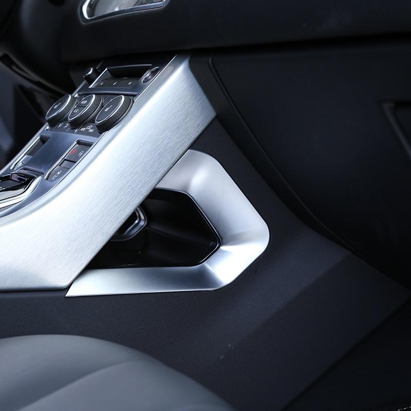 For Land rover Range Rover Evoque 2017 Car Accessories Centeral Decoration U Shape Frame Trim ABS Chrome New Arrivals технопарк модель автомобиля land rover range rover evoque цвет оливковый