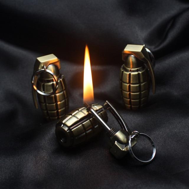 Drop ship Match Survival Lighter Fire Starter Camping Nature KeyChain Re-lightable Permanent Match Striker Lighter