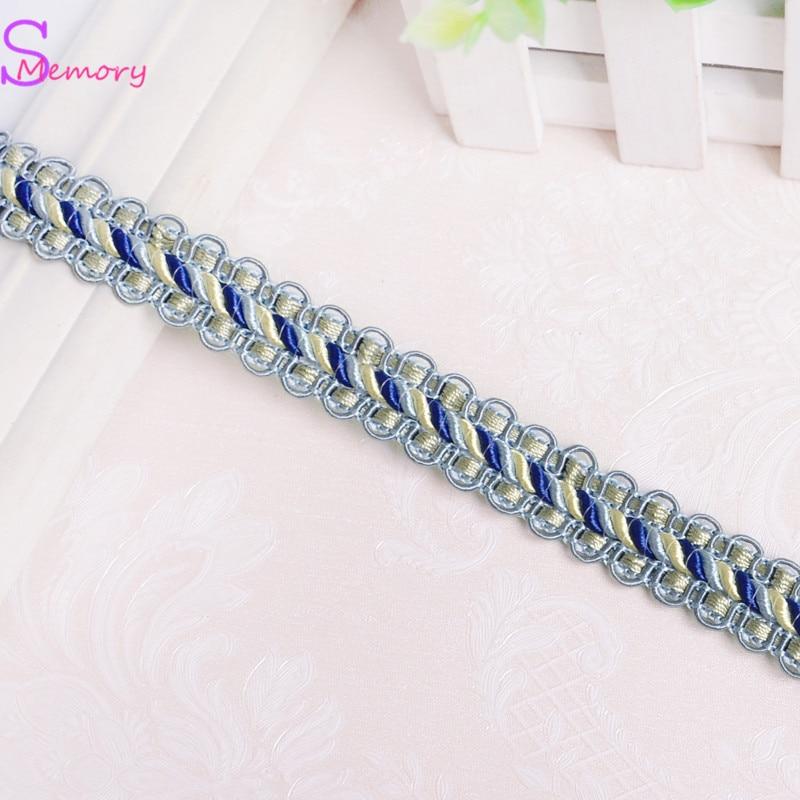 12M 2cm Colour Curtain Lace Trim Ribbon Sewing Dress Sofa