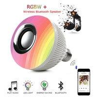 Smart Wireless Bluetooth Speaker LED RGB Music Bulb Dimmable E27 12W RGB Music Playing Light Lamp
