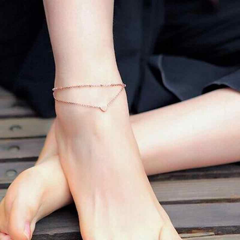 2017 תכשיטי האופנה קיץ שרשרת קרסול תכשיטי רגל עכס לב מאהב למכור חם זהב אופנה תכשיטי שרשרת רגל לנשים