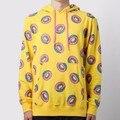 Tenho 7 Camisola das mulheres hoodies e moletons 2016 Rosquinhas de pizza Impresso BTS Bangtan Meninos Sportswear