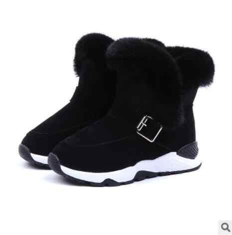 למעלה מכירת ילדי מגפי נעלי 2019 חדש חורף קטיפה חם מרטין נערי נעלי אופנה עור רך צמר נוגד החלקת בנות מגפיים