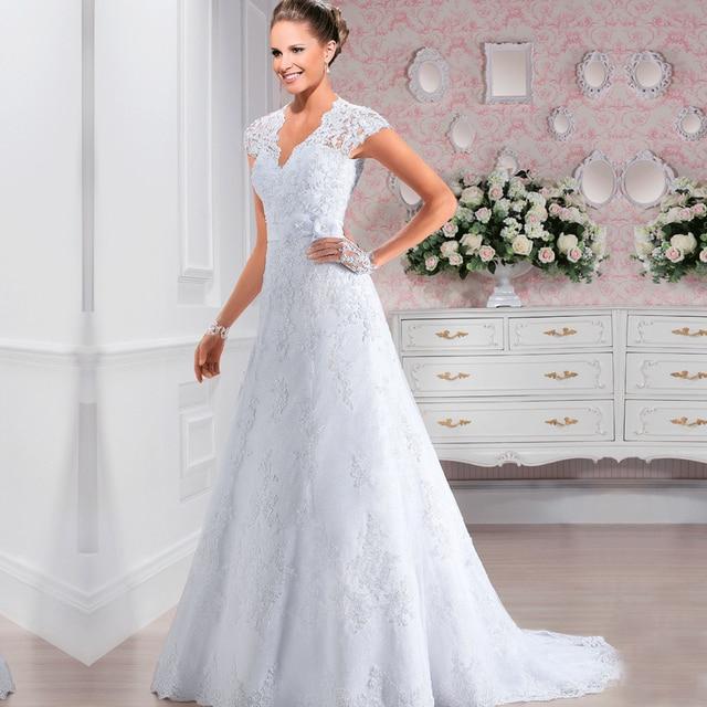 Vestidos De Noivas Elegant Wedding Gowns Vintage Lace Wedding Dress