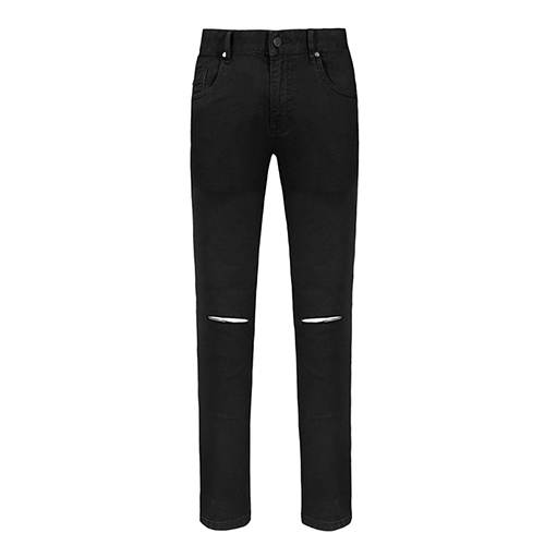 Seven7 Brand Black Ripped Jeans Men With Holes Denim