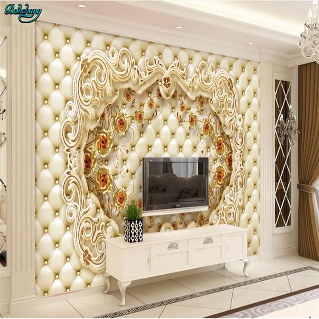 Genial Beibehang Große Benutzerdefinierte Goldene Rose Luxus Koffer TV Wohnzimmer  Schlafzimmer Hintergrund Dekoration