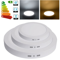 6W Surface Mounted LED Round Panel Lights Ceiling Ultra Thin Downlights Bathroom Kitchen Indoor Lighting AC85