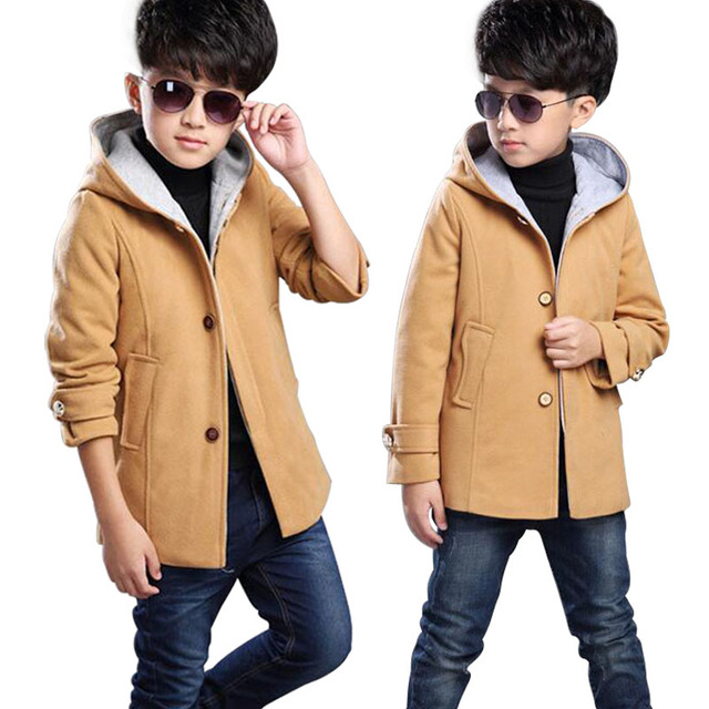 2d2491744 2019 New Winter Children s Winter Clothing Wool coat Boys Solid ...