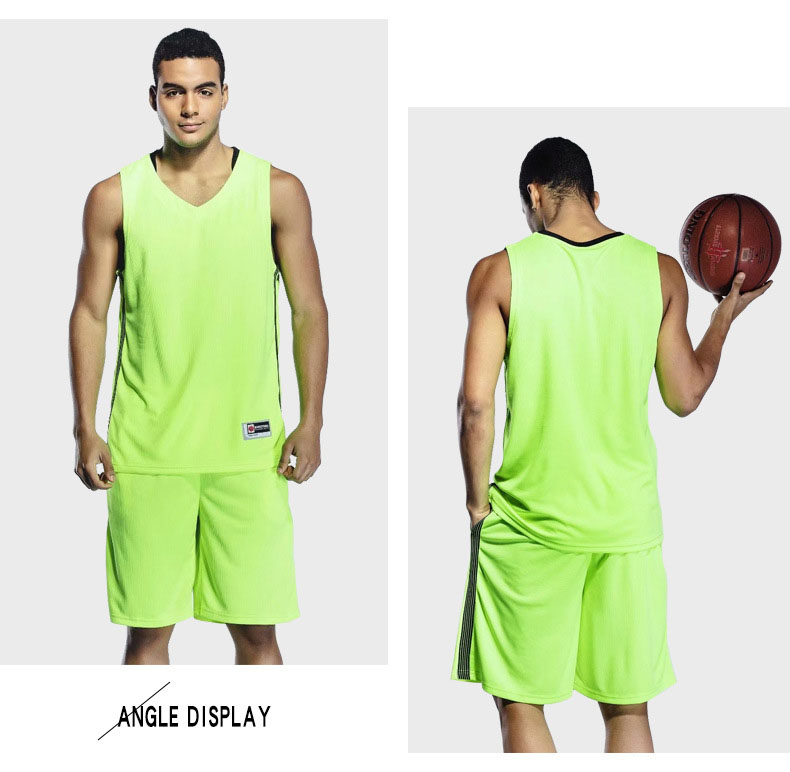 Top Quality 2 pcs Basketball Jerseys Basketball Uniforms Set Men Shirt and Shorts Breathable Training Jerseys