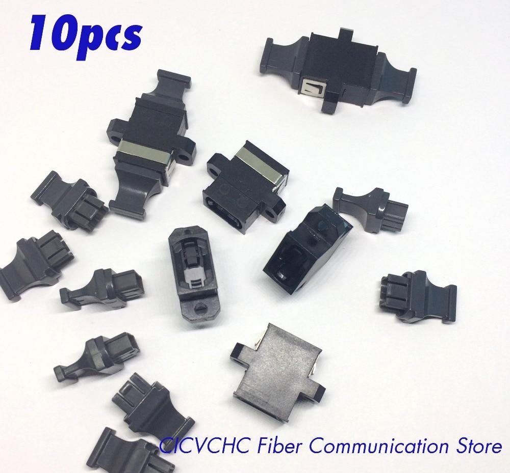 10пцс МТП / МПО црни оптички адаптер / спојница са прирубницом, супротним кључем или не, горе доле или горе до горе