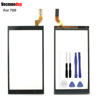 Vecmnoday Nueva calidad superior de Panel Táctil Lente de Cristal Digitalizador de Pantalla Táctil Para HTC Desire 700 D700 + herramientas