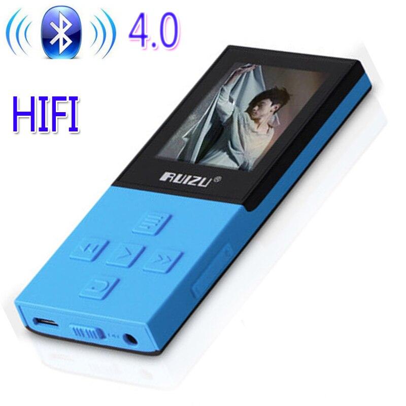 Оригинальный ruizu X18 Bluetooth Спорт MP3-плееры с 8 г может playing130Hours высокого качества без потерь Регистраторы FM для Bluetooth говорить