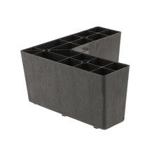 Sturdy Plastic Ottoman Legs Sofa Leg Weigh Stand Holder Settee Table Replacement Plinth Feet 6x3inch недорого